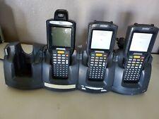 Set of 3 Motorola Symbol MC3190 Barcode Scanner WI-FI +  Quad Charging Cradle