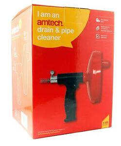 Drain Pipe Cleaner Unblocker Spring Steel Wire 6mm x 4m Wastepipe Sink Clearer