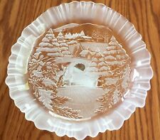 MIKASA HOLIDAY CLASSICS FOOTED BON BON DISH Germany Winter Scene
