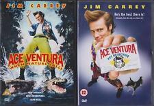 ACE VENTURA PET DETECTIVE & WHEN NATURE CALLS 1 & 2 Jim Carrey Comedy DVD *EXC*