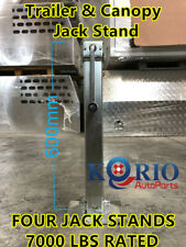 4X Jack Stand 3175KG Rated Extendable Stabilizer Legs For Trailer Caravan Canopy