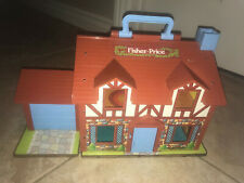1980 Vintage Fisher Price little people Tudor Play Family House