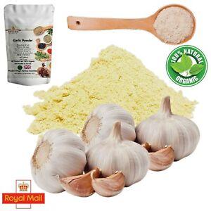 100% Pure Organic Garlic Powder A-Grade Ground Blend Cooking Seasoning Spices UK