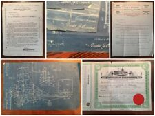 Rare Antique Aviation Airplane Flying Machine Patent Blueprints Collection More!
