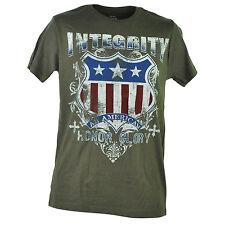 Route 66 Integrity American Honor Glory Distressed Shield Tshirt Tee Men