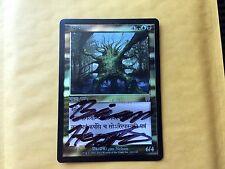 Misprint Foil Fungal Shambler PRERELEASE shifted stamp MTG Magic Card