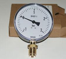 "Vacuum Pressure Gauge 100mm x 1/2"" BSP Connection for Slurry Tanker Pump"