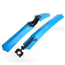 ROCKBROS MTB Bike Bicycle Fender Mudguard Front & Rear Quick Release Fender Blue
