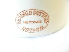 VINTAGE OLD RETRO AUSTRALIAN BENDIGO POTTERY LIPTON TEA SUGAR BOWL CANISTER