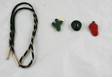 Lot Of 3 Southwestern Style Button Covers Cactus Chili  Bolo Tie No Slide i1o49
