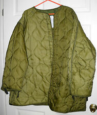 US Army Cold Weather Coat Liner Sz: large #3123