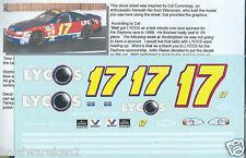 NASCAR DECAL #17 1998 LYCO'S MATT KENSETH BGN FIRST WIN - 3 AMIGO'S