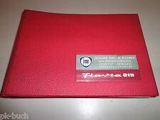 Teilekatalog Spare Parts Catalogue Pièces Détachées Lancia Flavia 819 Stand 1975