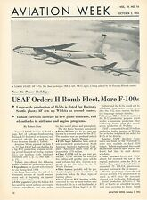 1953 Aviation Article Air Force Orders Fleet of Boeing B-52 Bombers H-Bomb
