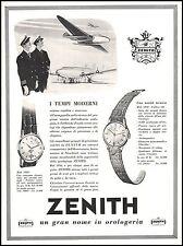 PUBBLICITA' 1955 ZENITH OROLOGIO PRECISIONE MOD 12046 - 12029  PREZZI AEREO