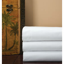 Cotton Bay fitted King sheet soft Cotton blend solid white (Lowest Price on ebay