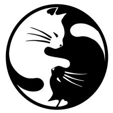 2 Aufkleber Ying Yang Katze Auto Sticker Decal 12 cm Tuning JDM