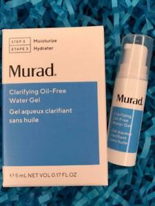 MURAD Clarifying Oil-Free Water Gel .17oz Travel Size - NEW in Box, FREE SHIP!