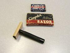 Vintage WW II  MILITARY SIMPLEX Bakelite Double Edge Safety Razor