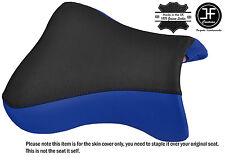 DESIGN 2 BLACK BLUE VINYL CUSTOM FITS KAWASAKI NINJA ZX9R 98-02 FRONT SEAT COVER