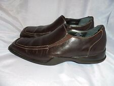 KENNETH COLE  MEN'S BROWN LEATHER SLIP ON SHOE SIZE UK 9.5 EU 43.5 US 10.5 M VGC