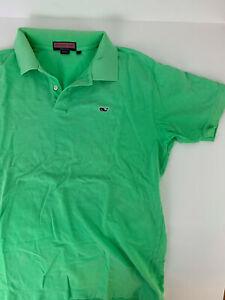 VINEYARD VINES green short sleeve polo shirt Men's L