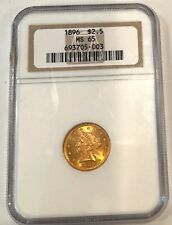 1896- U.S. $2.50 Ngc Ms-65 Gold Coin- See Other Rare Gold Coins
