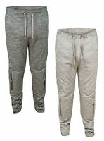 Soul Star Drop Crotch Fleece Joggers Tapered Fit Cuffed Skinny Jogging Bottoms