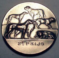 BELGIUM EINDHOVEN INTERNATIONAL DOG EXHIBITION 1923 2nd Price Medal 40.5mm 31g.