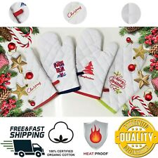 Pair of Oven Gloves Kitchen Cook...
