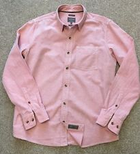 GORGEOUS FAT FACE CORAL RED / SALMON PINK CLASSIC FIT WEEKEND SHIRT M MEDIUM
