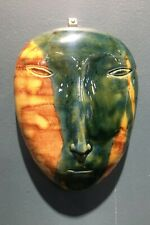Wall mask Asian man (yellow and green)