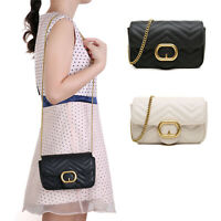 Aitbags Women's Shoulder Handbag Quilted Crossbody Bag with Chain Strap Satchel