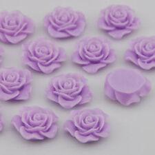NEW 30pcs Resin Rose Flower Flatback Appliques For Phone/Wedding/Crafts US