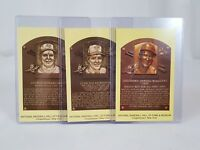 Baseball Hall of Fame Postcard Lot of 3 Postmarked Induction Day 1999 Ryan Brett