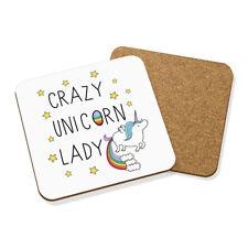 Crazy Unicorno LADY Drink Coaster Tappetino Square-Rainbow Animale MAGICO CACCA