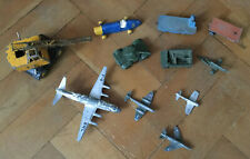Bundle Of Vintage Dinky Toys. Racing Car, Military Planes, Tanks.