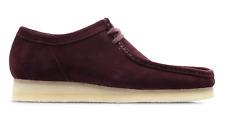 Clarks Originals Mens Wallabee  Bordeaux Suede Shoes  UK 10.5 - NEW IN BOX!