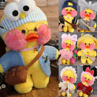 "12""/30cm Lalafanfan Cafe Mimi Yellow Duck Costume Plush Toy Stuffed Doll New"