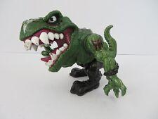 Mattel Extreme Dinosaur 1996  T Bone War Paint T Rex Action Figure Grn #7832