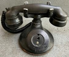 VINTAGE BLACK WESTERN ELECTRIC ROTARY PHONE AS IS