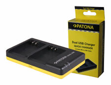 PATONA - Chargeur duo pour 2 batteries Olympus BLN-1 + Cable micro USB