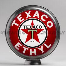 """Texaco Ethyl 13.5"""" Gas Pump Globe w/ Steel Body (G194)"""