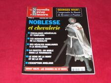 LA NOUVELLE REVUE HISTOIRE NRH 35 NOBLESSE ET CHEVALERIE