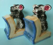 FAB VINTAGE RETRO KITSCH SCOTTIE DOG BOOK ENDS BOOKENDS PAIR