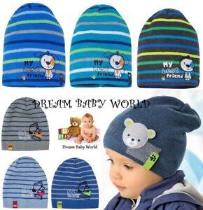BEANIE baby boys knitted hat KIDS 6 - 18 months CHILDREN CAP NEW cars