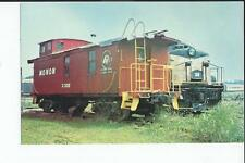 Monon Caboose and Locomotive, on Display in Kentucky Railroad Museum  Postcard