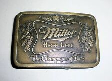 Miller High Life Beer Belt Buckle-Vintage Collectible-Indiana Metal Craft