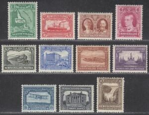 Newfoundland 1931 KGV Publicity Perkins watermarked Set Mint SG198-208 cat £225