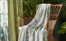 Kuscheldecke Tagesdecke Sofaüberwurf Decke Sofadecke Blätterdesign 160x130cm NEU